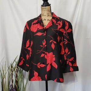 Silkland Silk Button Down Long Sleeve Shirt